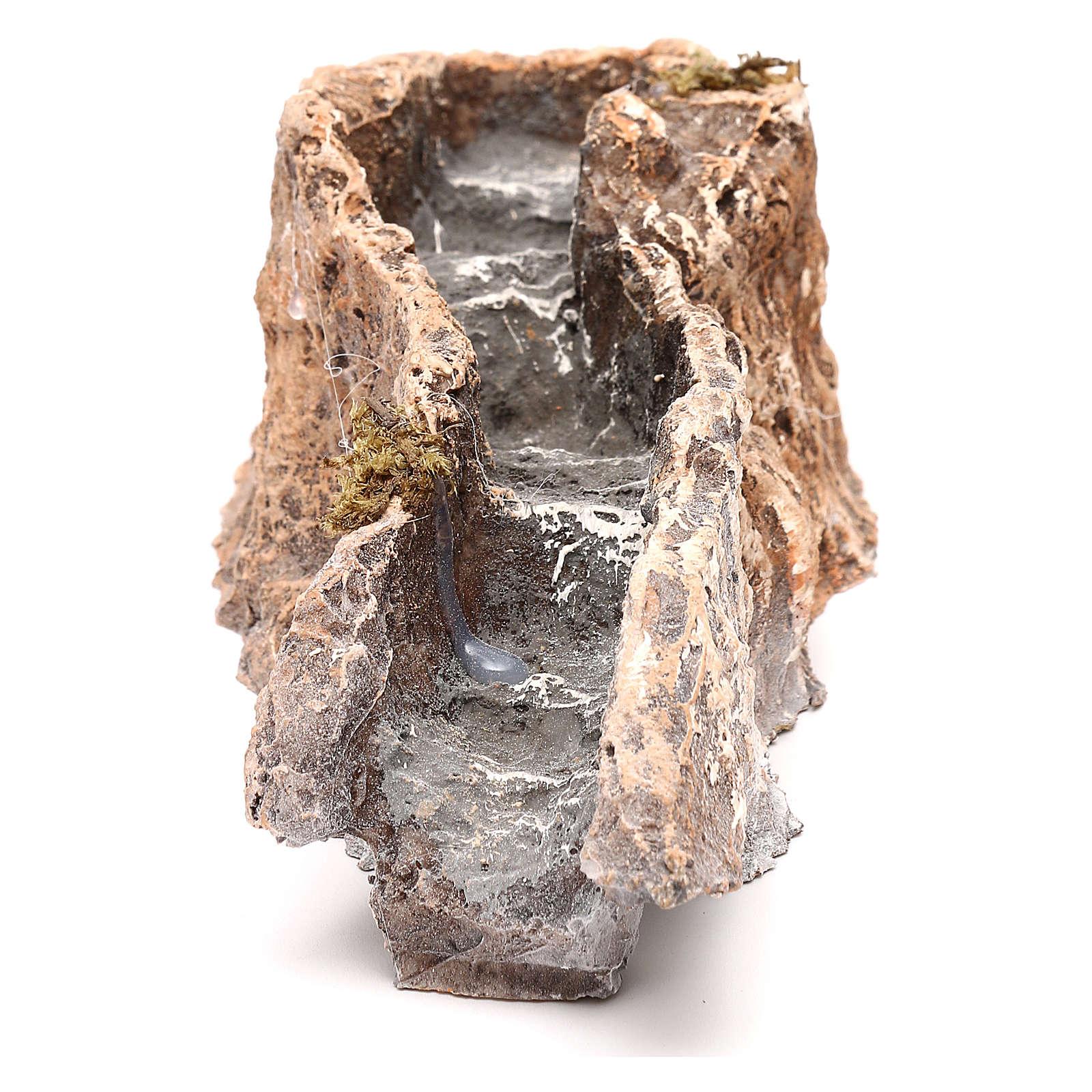 Ruscello resina componibile parte dritta 5x10x25 cm presepe Napoli 4-6-8 cm 4