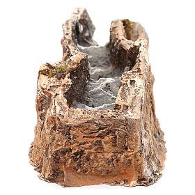 Ruscello resina componibile parte dritta 5x10x25 cm presepe Napoli 4-6-8 cm s4