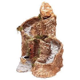Arroyo y fuente que funcionan 25x25x35 cm belén napolitano 10 cm s1
