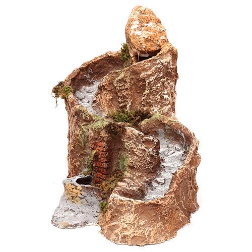 Arroyo y fuente que funcionan 25x25x35 cm belén napolitano 10 cm 1