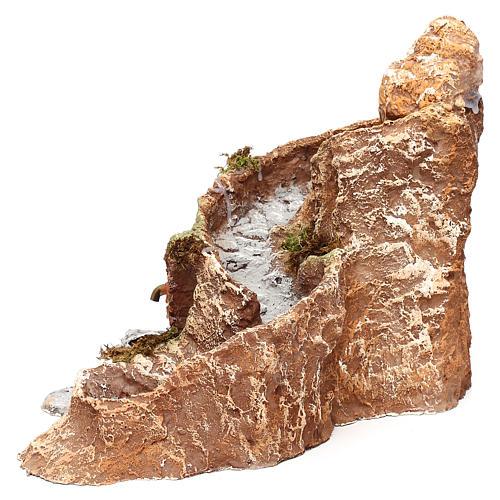 Arroyo y fuente que funcionan 25x25x35 cm belén napolitano 10 cm 2