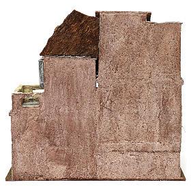 Borgo in resina con scalinata presepi 10 cm 40x40x25 cm s4