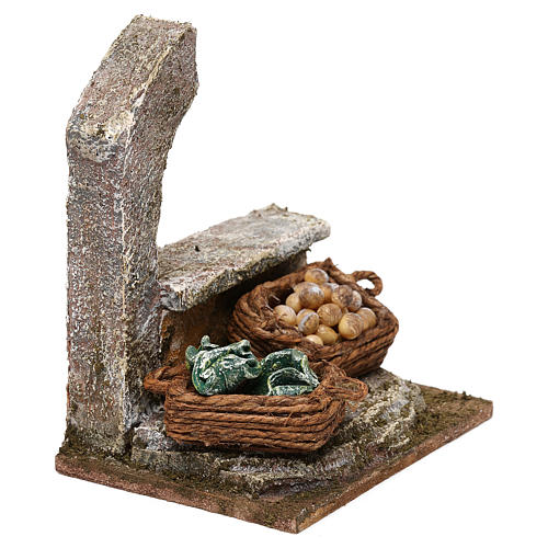 Arcade with vegetable baskets for Nativity scenes 10 cm 10x10x10 cm 3