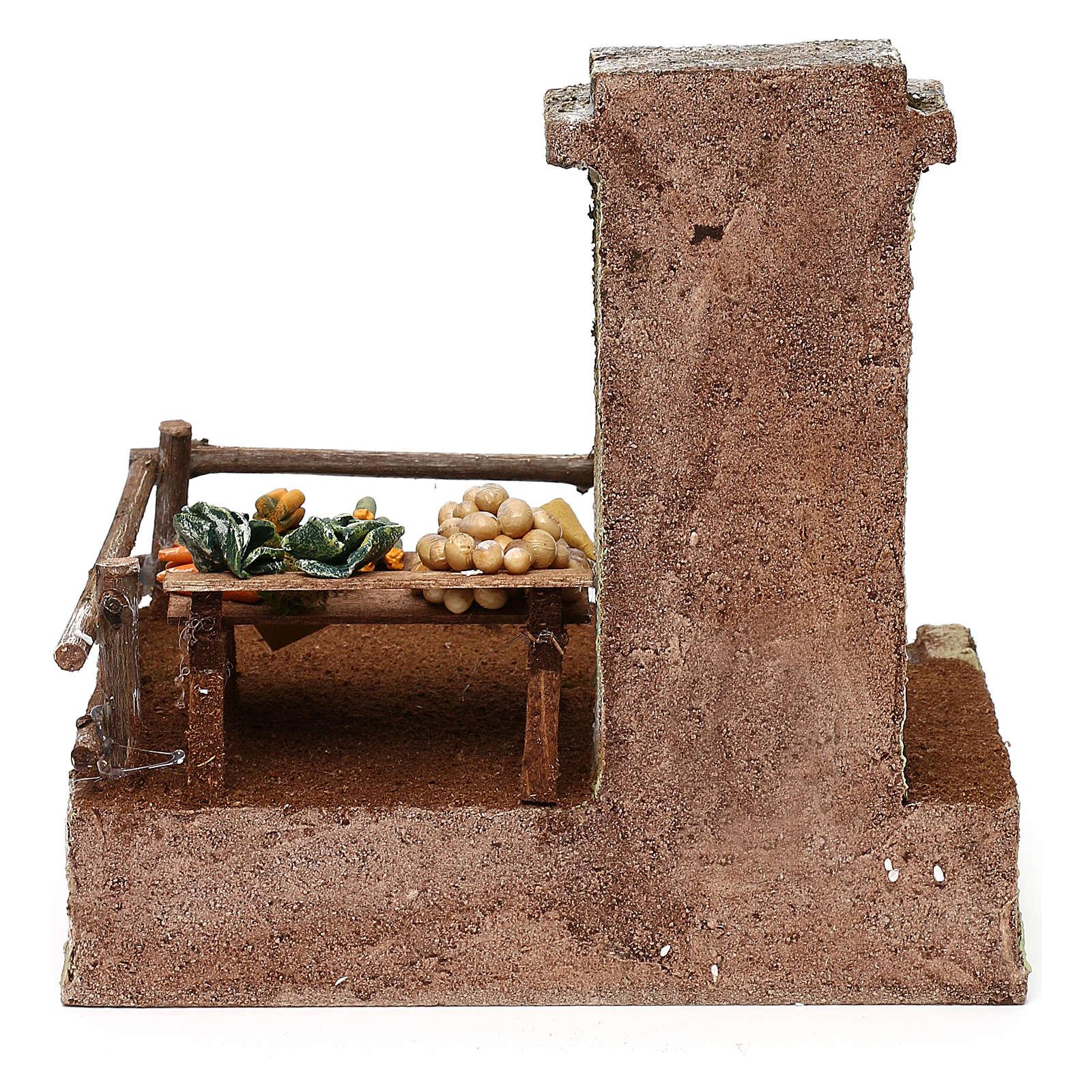 Resin setting for greengrocer for Nativity scene 10 cm 20x20x15 cm 4