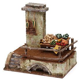 Resin setting for greengrocer for Nativity scene 10 cm 20x20x15 cm s2