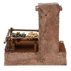 Ambientazione per fruttivendolo in resina presepe 10 cm 20x20x15 cm s4