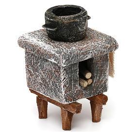 Resin kitchen with pot 10x5x5 cm for Nativity scene 10 cm s3