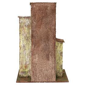 Borgo in resina con tre case presepi 12 cm 40x40x25 cm  s4