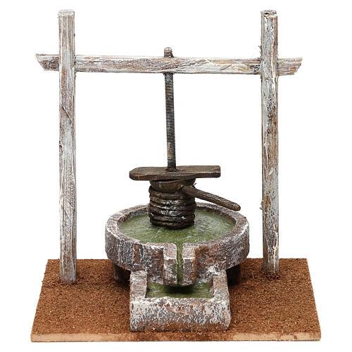 Resin press for Nativity scene 12 cm 20x20x15 cm 1