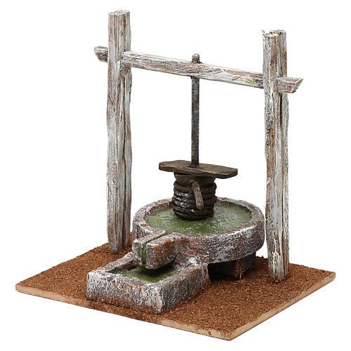 Resin press for Nativity scene 12 cm 20x20x15 cm 2