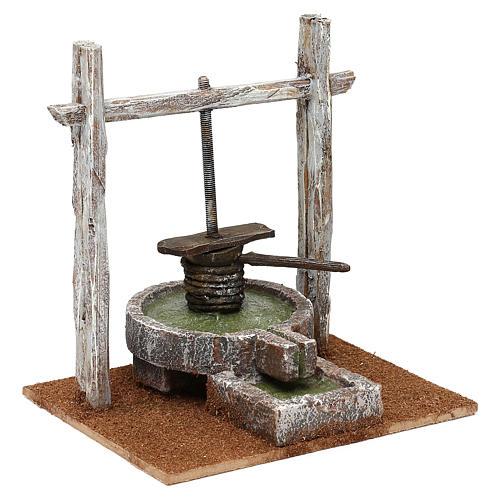 Resin press for Nativity scene 12 cm 20x20x15 cm 3