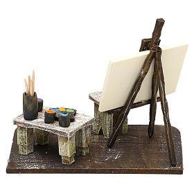 Atelier del pittore resina presepe 12 cm 10x15x10 cm s4