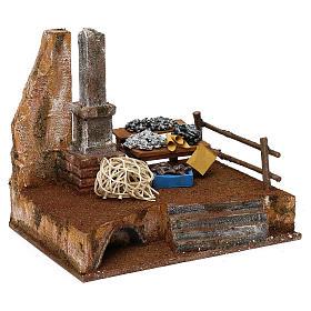 Fisherman's stand in resin Nativity scene 12 cm 20x25x20 cm s3