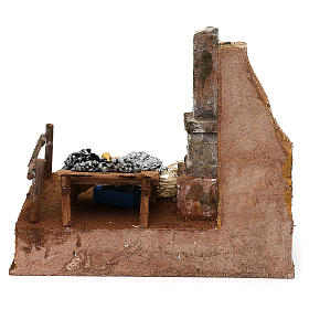 Fisherman's stand in resin Nativity scene 12 cm 20x25x20 cm s4