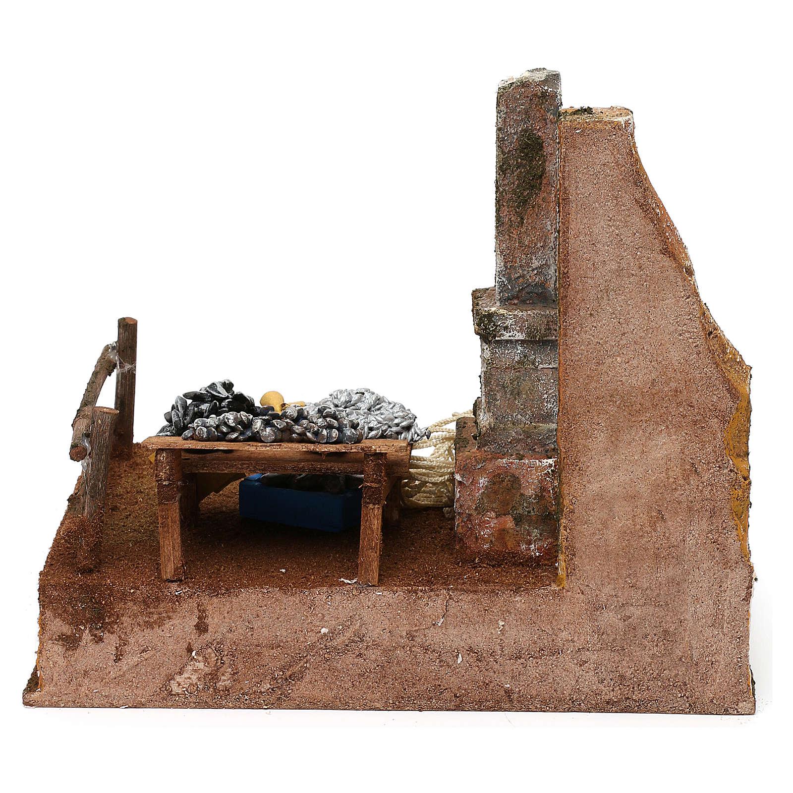 Mostrador pescadero de resina belén 12 cm 20x25x20 cm 4