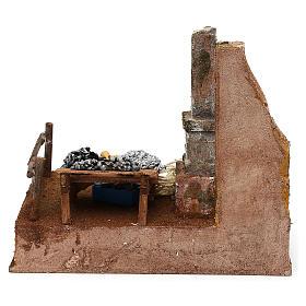 Mostrador pescadero de resina belén 12 cm 20x25x20 cm s4