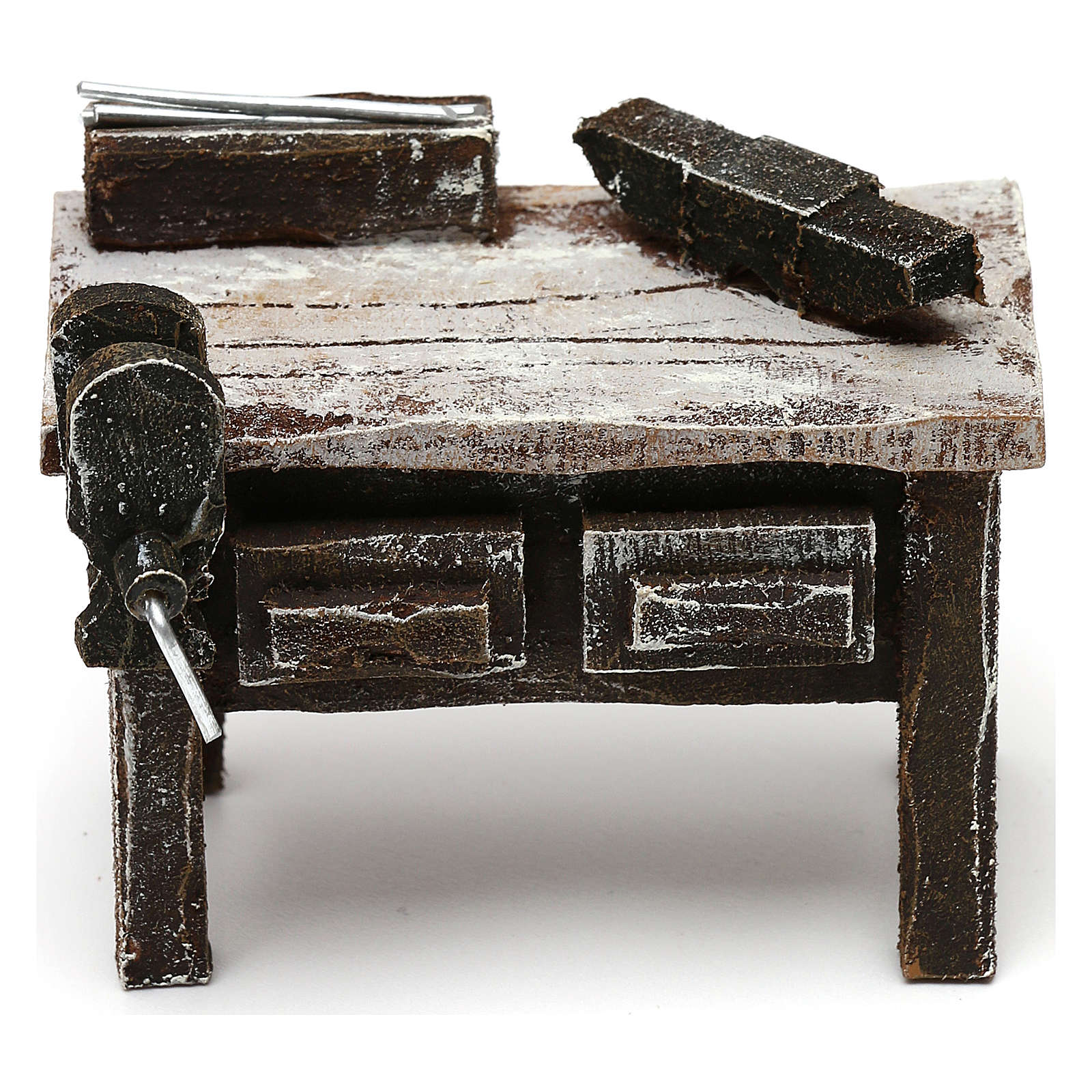 Blacksmith workbench in resin Nativity scenes 10 cm 5x5x5 cm 4