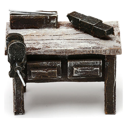 Blacksmith workbench in resin Nativity scenes 10 cm 5x5x5 cm 1