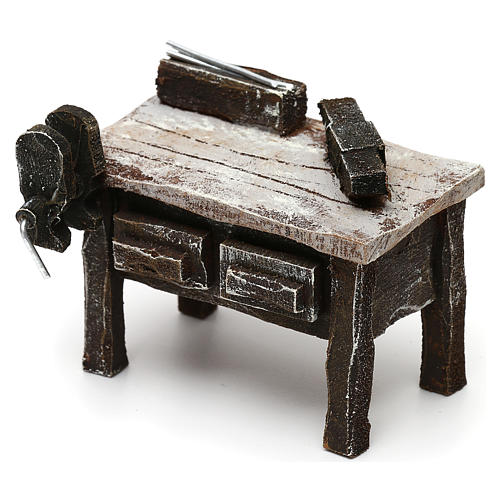 Blacksmith workbench in resin Nativity scenes 10 cm 5x5x5 cm 2