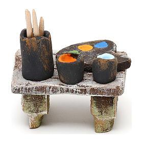 Miniature painter's table for 10 cm nativity, 5x5x5 cm s4
