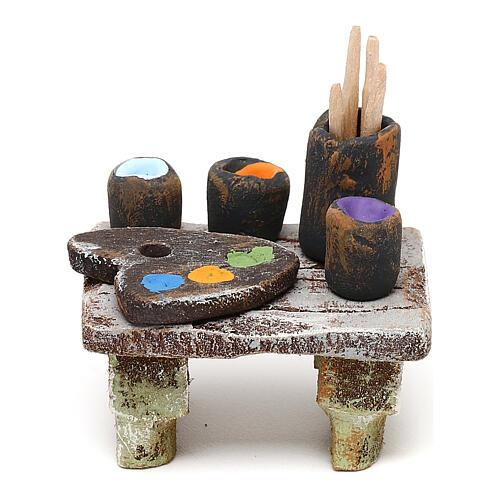 Miniature painter's table for 10 cm nativity, 5x5x5 cm 1