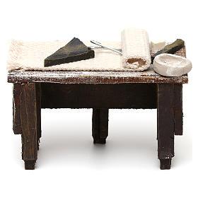 Tailor workbench in resin Nativity scene 12 cm 5x10x5 cm s4