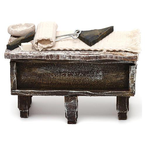 Tailor workbench in resin Nativity scene 12 cm 5x10x5 cm 1
