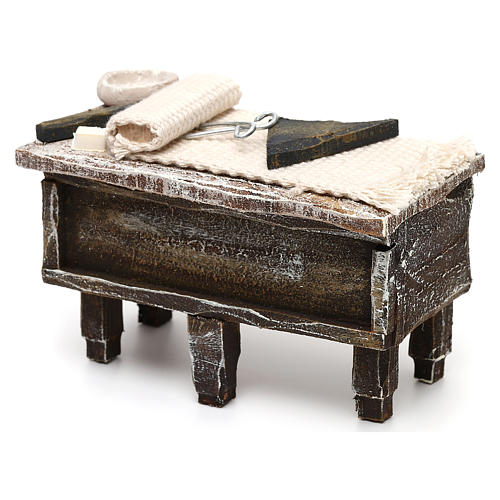 Tailor workbench in resin Nativity scene 12 cm 5x10x5 cm 2