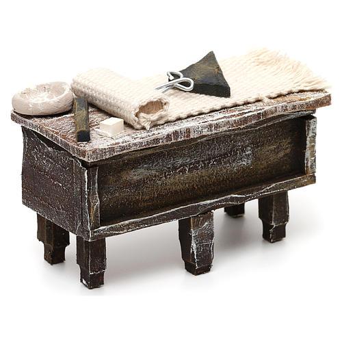 Tailor workbench in resin Nativity scene 12 cm 5x10x5 cm 3