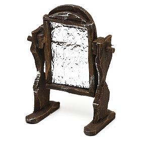 Specchiera legno e carta stagnola presepi 10 cm 10x5x5 cm s2
