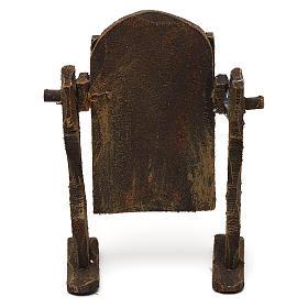 Specchiera legno e carta stagnola presepi 10 cm 10x5x5 cm s4