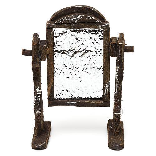Specchiera legno e carta stagnola presepi 10 cm 10x5x5 cm 1