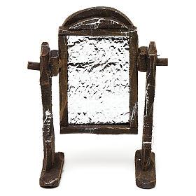 Acessórios de Casa para Presépio: Espelho madeira e papel-alumínio 10x5x5 cm para presépio com figuras de 10 cm de altura média