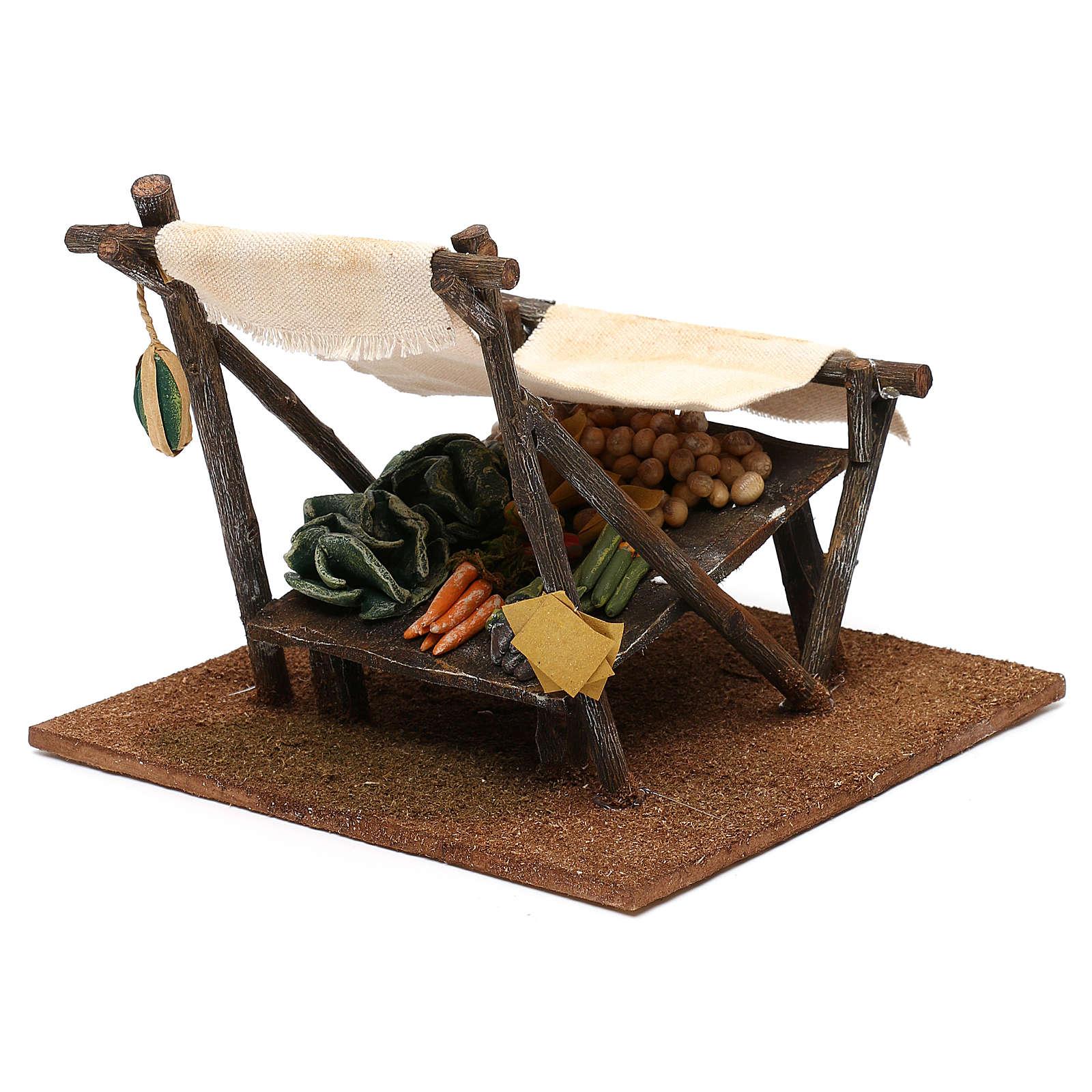 Mostrador verdulero con cortina belén 12 cm 15x20x20 cm 4