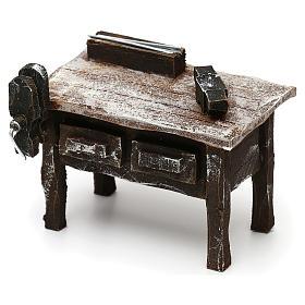 Mesa trabajo herrero con herramientas belén 12 cm 5x10x5 cm s2