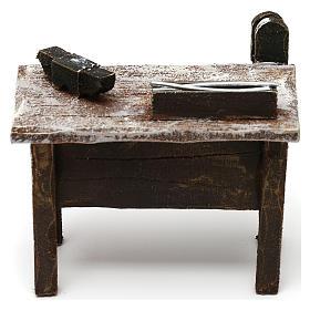 Mesa trabajo herrero con herramientas belén 12 cm 5x10x5 cm s4