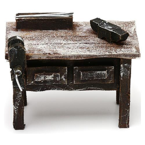 Mesa trabajo herrero con herramientas belén 12 cm 5x10x5 cm 1