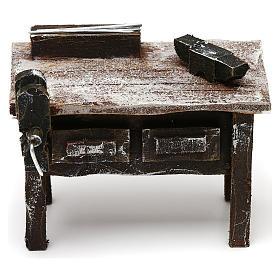 Tavolo lavoro fabbro con attrezzi presepe 12 cm 5x10x5 cm s1