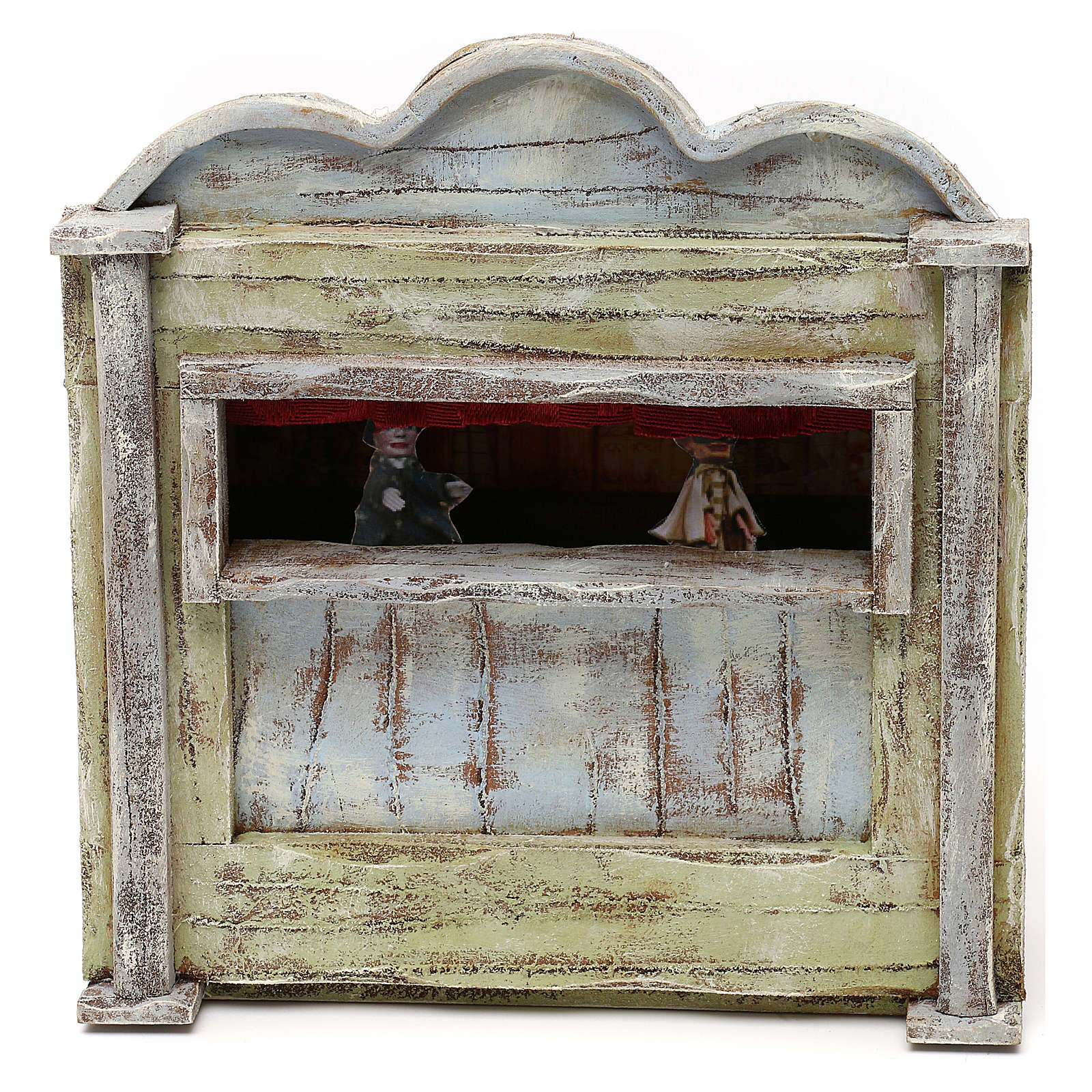 Teatro de madera belén 10 cm 20x15x5 cm 4