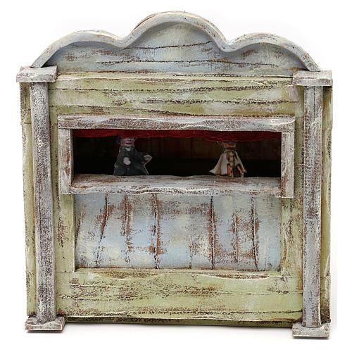 Teatro de madera belén 10 cm 20x15x5 cm 1