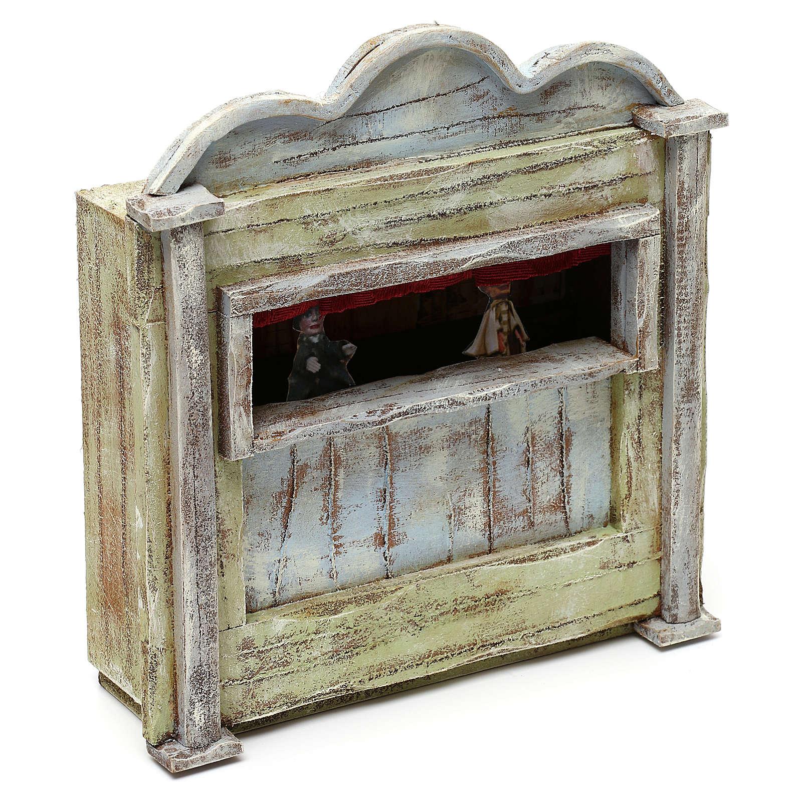 Teatrino in legno presepe 10 cm 20x15x5 cm 4