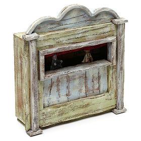 Teatrino in legno presepe 10 cm 20x15x5 cm s3