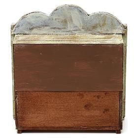 Teatrino in legno presepe 10 cm 20x15x5 cm s4