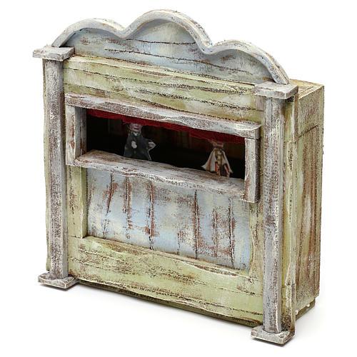 Teatrino in legno presepe 10 cm 20x15x5 cm 2