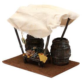 Mostrador verdulero con barriles belén 12 cm 20x25x20 cm s3