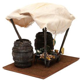 Mostrador verdulero con barriles belén 12 cm 20x25x20 cm s4