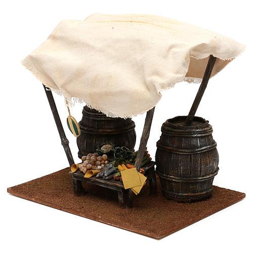 Mostrador verdulero con barriles belén 12 cm 20x25x20 cm 3