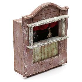 Teatrino marionette legno presepe 10 cm 20x15x10 cm s3