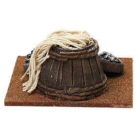 Fishmonger setting with barrel for 10 cm Nativity scene, 10x5x10 cm s4