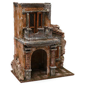 Casa con terrazza resina presepe 12 cm 35x30x20 cm s3